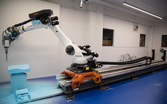 large KUKA robot in action